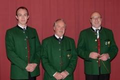 Kapellmeister - Kapellmeister Stv. Christoph Hof, Ehrenkapellmeister Alfred Hiermann, Kapellmeister Josef Schäffer