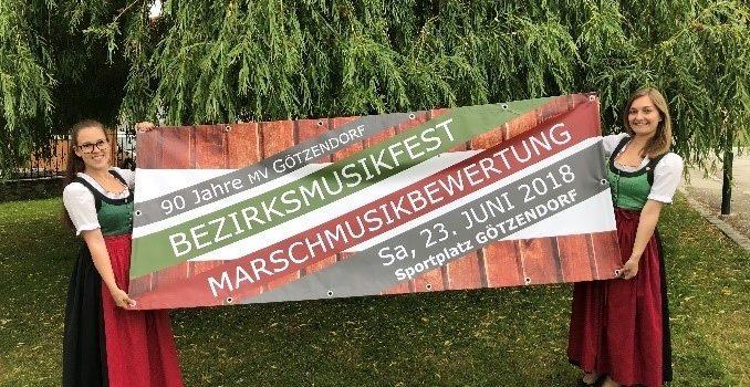Bezirksmusikfest 2018 am 23.6.2018 in Götzendorf